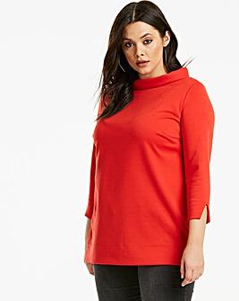 Ponte 3/4 Sleeve Workwear Top