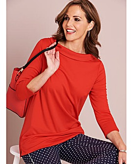 Ponte 3/4 Sleeve Workwear Top