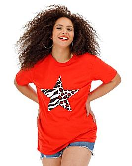 Zebra/ Animal Star Print T-Shirt