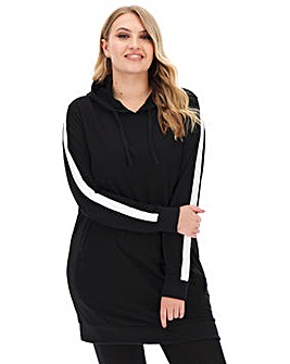 Longline Stripe Hoodie