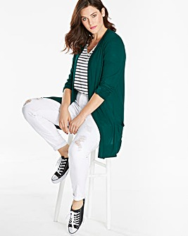 Forest Green Boyfriend Jersey Long Sleeve Cardigan