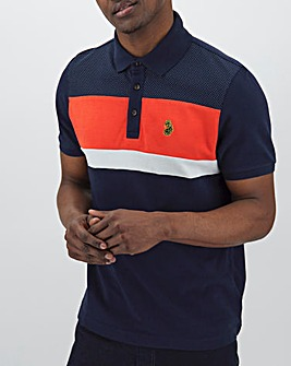 Luke Sport Scotty Hay Colour Block Polo