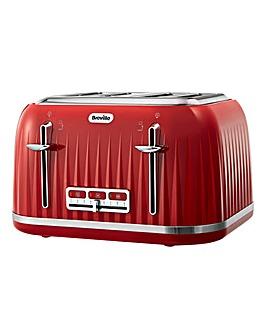 Breville VTT783 Impressions 4 Slice Red Toaster