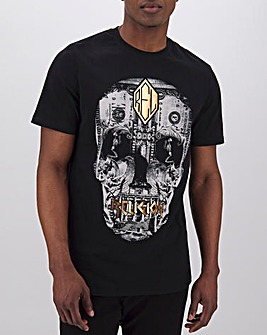 Religion Posterized Skull T-Shirt Long
