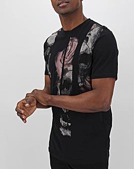 Religion Slice Skull T-Shirt Long