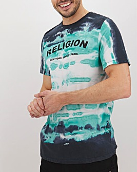 Religion Tie Dye Psycho T-Shirt Long