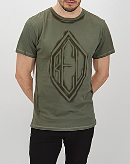 Religion Khaki Press T-Shirt Long