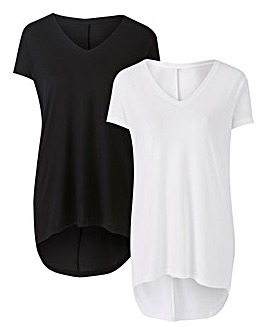 Pack of 2 Dipped Back T-shirts