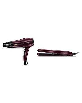 Nicky Clarke NGP277 2000W Dryer & Ceramic Straightener Gift Set