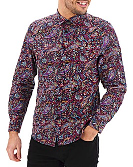 Joe Browns Purple Paisley Shirt Long