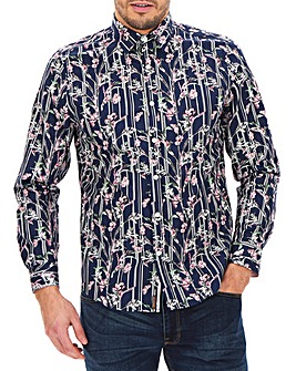Joe Browns Floral Stripe Shirt Long