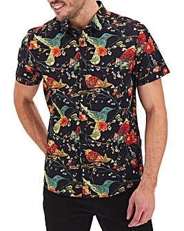 Peter Werth Short Sleeve Bird Shirt Long
