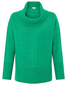 Monsoon Rhea Ribbed Cowl Neck Jumper