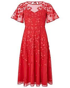 Monsoon Racquelle Embroidered  Dress