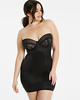 MAGISCULPT Jacquard Black Underwired Full Slip Firm Control