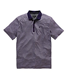 Black Label By Jacamo Jacquard Polo Reg