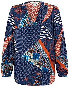 Monsoon Dakota Print Patch Top