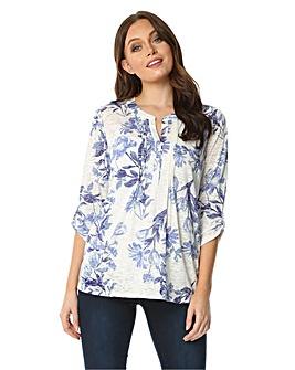 Roman Burnout Floral Jersey Shirt