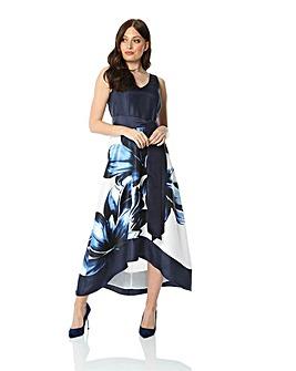 Roman Dip Hem Floral Maxi Dress