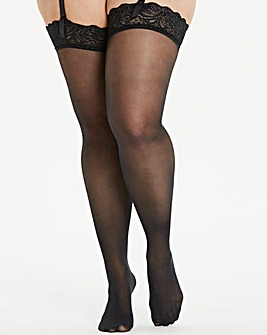 Figleaves Curve Lace Top Stockings