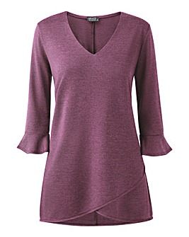 Grace tulip hem tunic with frill cuff