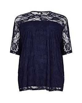 Mela London Curve Floral Lace Top