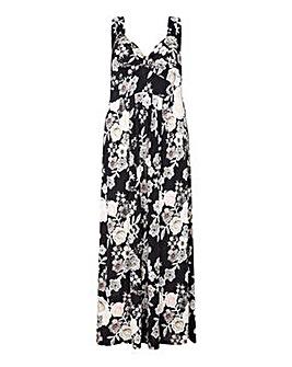 Mela London Curve Floral Print Maxi Dres