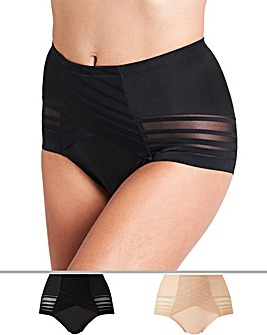 Magisculpt 2 Pack No VPL Black/Blush Light Control Brief