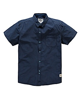 Bellfield Cabrillo Navy Overdye Shirt Long