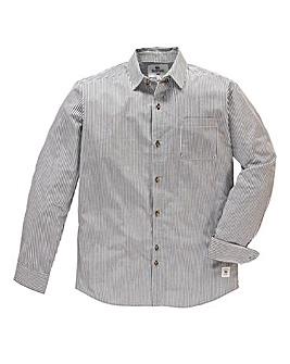 Bellfield Lanes Long Sleeved Stripe Shirt Regular