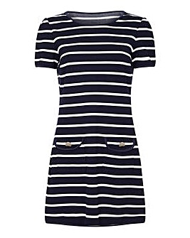 Yumi Curves Nautical Stripe Tunic