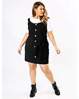 Koko Black Pinafore Dress