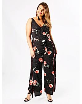 Koko Floral Wrap Front Jumpsuit