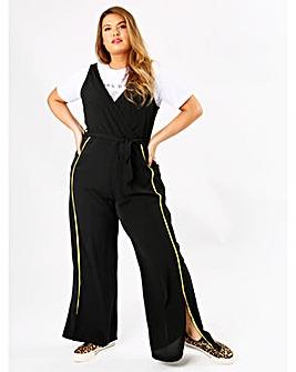 Koko Black Wrap Front Jumpsuit