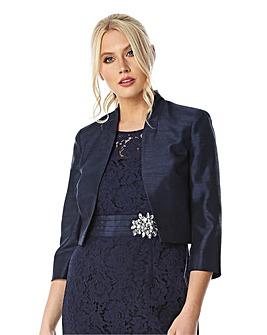 Roman 3/4 Sleeve Silk Jacket