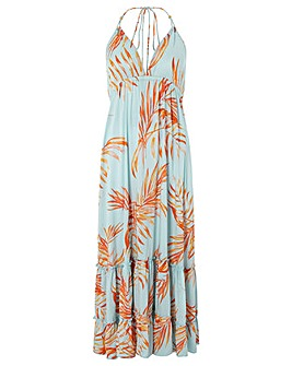 Monsoon Ayla Palm Leaves Maxi Dress