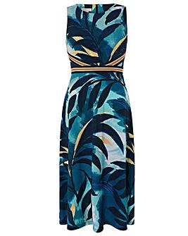 Monsoon Amarelle Print Midi Dress