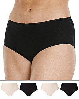 4 Pack Value Midi Briefs