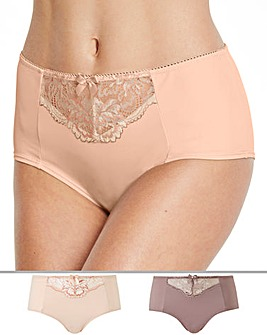 2 Pack Ella Lace Blush/Mocha Mid Rise Shorts