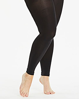200 Denier Footless Black Opaque Tights