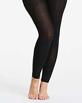 Pretty Secrets 100 Denier Black Footless Tights