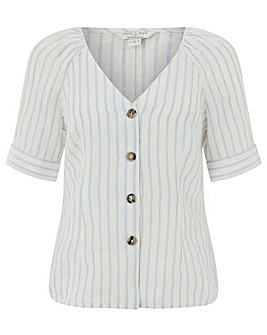 Monsoon Fifi Stripe Linen Top