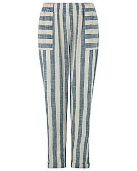 Monsoon Sandy Stripe Yarn Dye Trouser