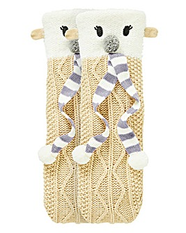 1 Pack Polar Bear Knitted Socks