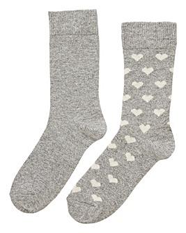 2 Pack Cashmere Blend Socks