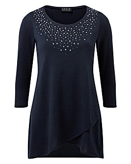 Grace tunic with stud detail