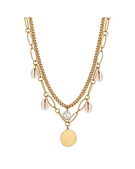 Mood Real Shell Multirow Necklace