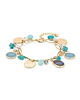 Mood Abalone Charm Bracelet
