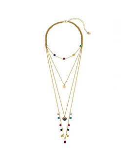 Lipsy Multicolour Layered Necklace
