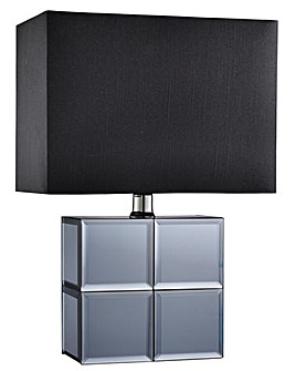 Smoked Mirror Bedside Table Lamp